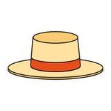 Классическое изображение значка шляпы Стоковое Изображение