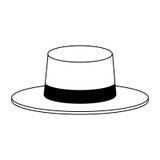 Классическое изображение значка шляпы Стоковое Изображение RF