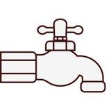 Классическое изображение значка faucet иллюстрация вектора