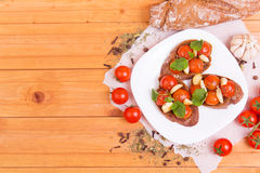 Классическое итальянское bruschetta Стоковое фото RF