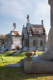 Классическое колониальное французское кладбище в Новом Орлеане, Луизиане Стоковые Изображения
