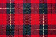 Классическое красное и черное checkered Стоковая Фотография