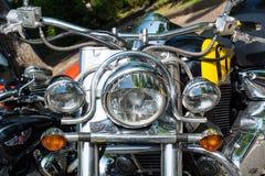 Классическое мотоцилк на встрече велосипедиста в итальянском городке Стоковое Фото
