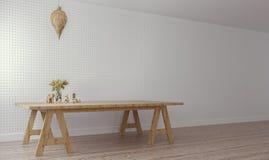 Классическое & современное прожитие/3D представляет изображение стоковое фото rf