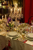 Классическое украшение таблицы, событие обедающего, элегантный стиль стоковое фото