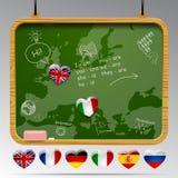 Классн классный европейских языков Стоковое Изображение