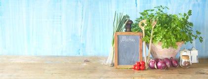Классн классный и пищевые ингредиенты, варя концепцию Стоковое Изображение RF