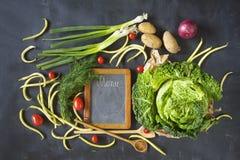 Классн классный и пищевые ингредиенты, варя концепцию Стоковые Изображения RF