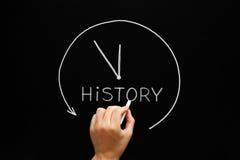 Классн классный концепции часов стрелки истории Стоковое фото RF