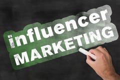 Классн классный маркетинга Influencer стоковое изображение