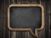 Классн классный пузыря речи или смертная казнь через повешение доски на стене Стоковые Фотографии RF