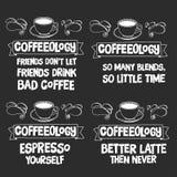 Классн классный с цитатой о кофе Стоковое Изображение