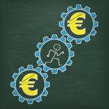 Классн классный Stickman бежит евро шестерней бесплатная иллюстрация