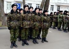 Классы внутри сверлят внутри корпус кадетов полиции Стоковые Изображения RF