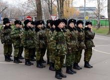 Классы внутри сверлят внутри корпус кадетов полиции Стоковая Фотография