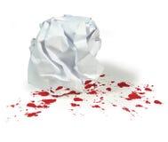Класс или основанный офисом бой Paperball насилия Стоковое Изображение RF