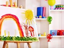 Класс на preschool. Стоковые Изображения