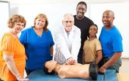 Класс скорой помощи обучения взрослых Стоковое Изображение RF