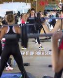 Класс фитнеса группы Стоковые Изображения RF