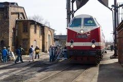 Класс 119 DR тепловоза работы локомотива ('23-ье августа» Бухареста) Стоковые Фото