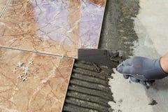 Класть плитки Стоковые Изображения RF