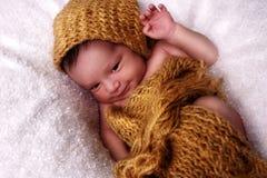 класть newborn Стоковая Фотография RF
