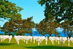 Кладбище американца Второй Мировой Войны Нормандии Стоковая Фотография RF