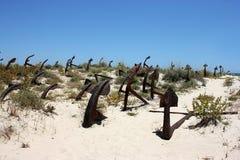Кладбище анкера в Португалии Стоковые Фото