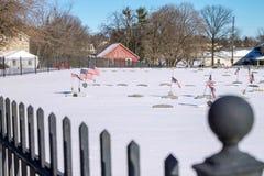 Кладбище ветерана Стоковые Изображения