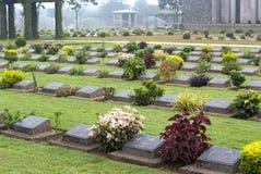 Кладбище военного мемориала Ktauk Kyant в Мьянме Стоковое Фото