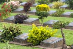 Кладбище военного мемориала Ktauk Kyant в Мьянме Стоковые Фото