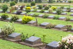Кладбище военного мемориала Ktauk Kyant в Мьянме Стоковое Изображение RF