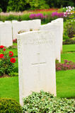 Кладбище войны - Сомма - франция стоковая фотография rf