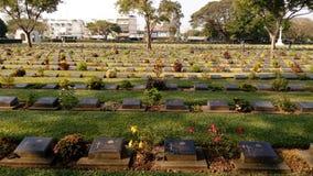 Кладбище войны стоковое изображение rf