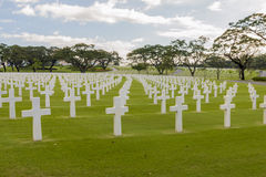 Кладбище войск войны стоковое фото rf