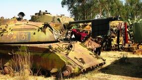 Кладбище в Асмэре, Эритрея танка стоковые изображения