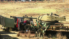 Кладбище в Асмэре, Эритрея танка стоковые фото