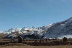 Кладбище в зоне Talas Кыргызстана Стоковые Фотографии RF