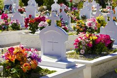 Кладбище в St Barths, карибском Стоковое фото RF