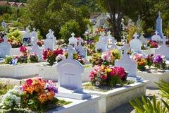 Кладбище в St Barths, карибском Стоковая Фотография