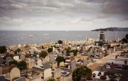 Кладбище в St Tropez стоковые фото