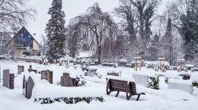 Кладбище зимы Стоковое Изображение RF
