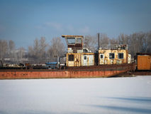Кладбище корабля зимы стоковые изображения rf
