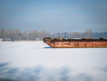 Кладбище корабля зимы стоковые изображения