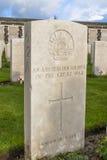 Кладбище кроватки Tyne в мировой войне Бельгии Фландрии Ипра Стоковые Изображения