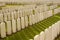 Кладбище кроватки Tyne в мировой войне Бельгии Фландрии Ипра Стоковая Фотография RF