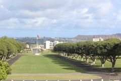 кладбище мемориальный национальный pacific Стоковая Фотография