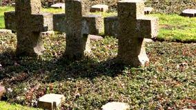 Кладбище мировой войны сток-видео