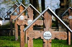 Кладбище мировой войны i в ¼ Энне OÅ стоковые изображения
