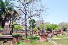 Кладбище на великобританском месте жительства стоковые изображения